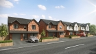 CGI of new build detached homes for sale in Bleak Hill in Windle from Henderson Homes