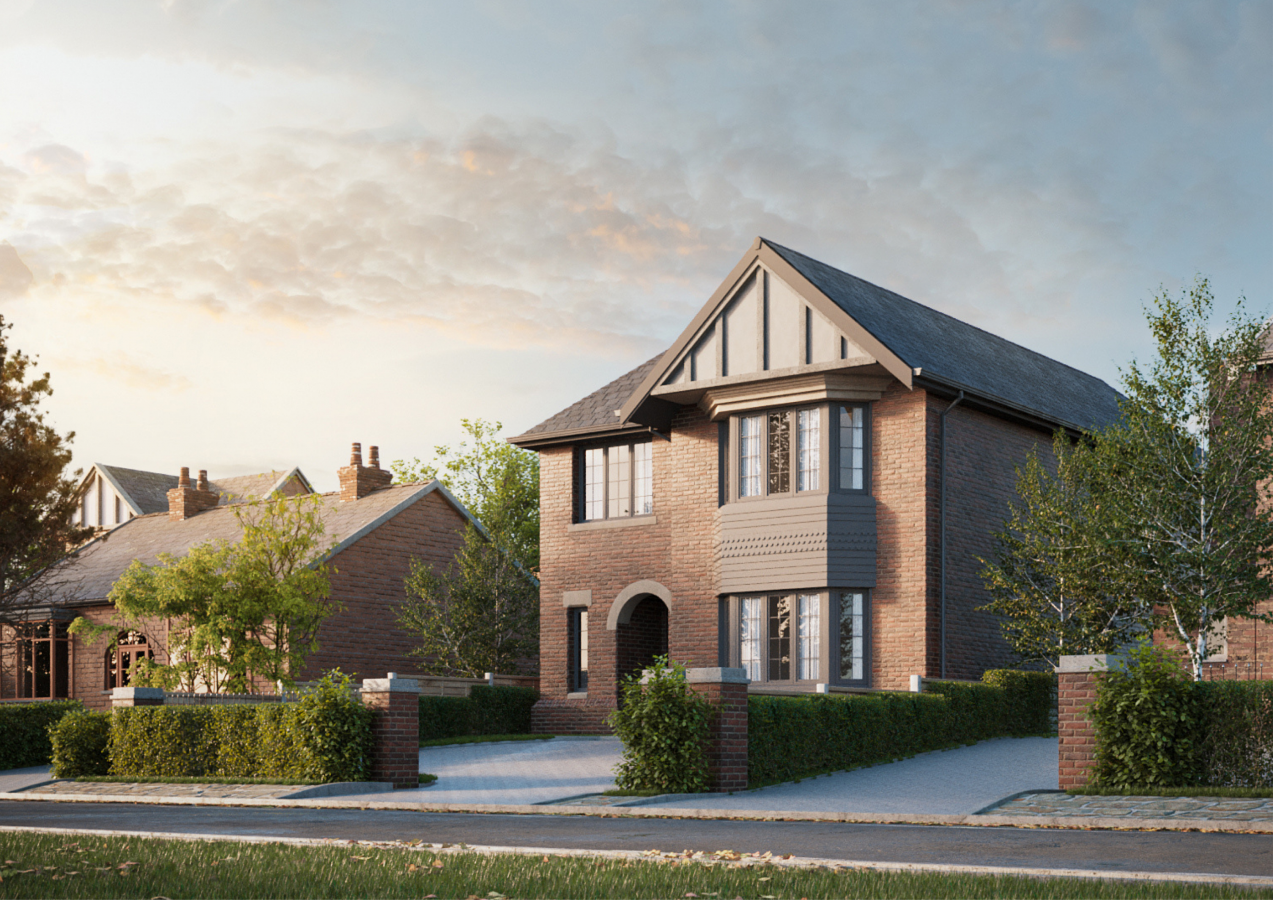 front elevation of a new detached home for sale in Poynton from henderson Homes